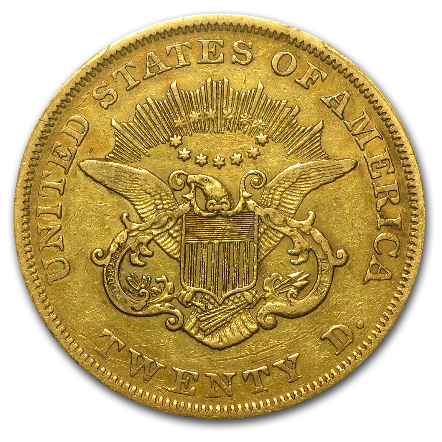 1851 $20 Liberty Gold Double Eagle EF-40 PCGS